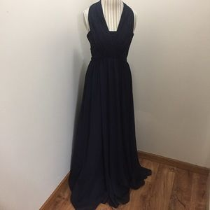 Jenny Yoo Collection Navy Crepe Bridesmaid Dress